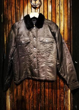 Крутой стильный бомбер kookai куртка на синтепоне демисезонная