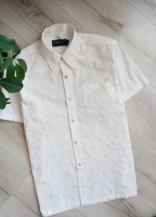 Брендовая классическая белая рубашка