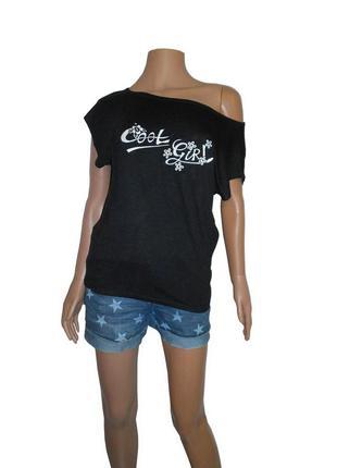 Летняя футболка с удлиненной спинкой