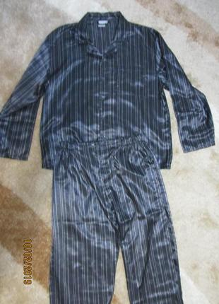 Mужская атласная пижама раз.48-50 070ef021655cf