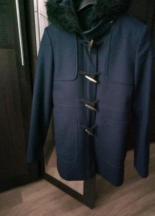 Пальто куртка синее xs naf-naf