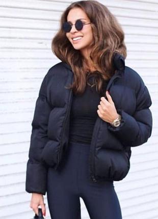 Новая куртка зефирка чёрная
