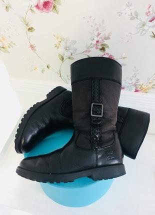 Clarks демисезонные  сапоги ботинки кожаные