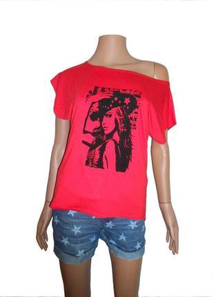 Яркая женская футболка 2015 лето