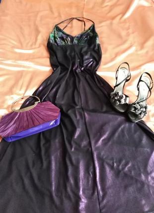 3 в 1 !!! комплект : эксклюзивное дизайнерское вечернее платье , босоножки, сумочка !!!