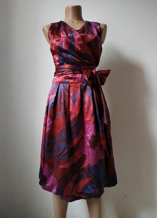 Шикарное шёлковое платье на запах seventy pp s-m