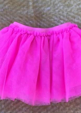 Пышная фатиновая юбка пачка на 9-12 месяцев