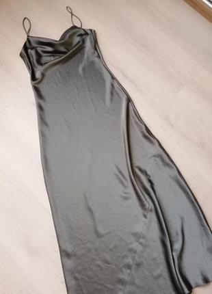 Розкішна атласна сукня / атласное платье