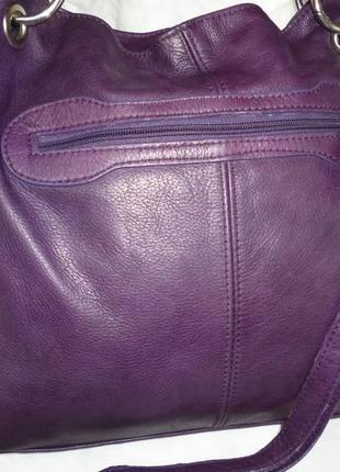 Стильная большая сумка натуральная мраморная кожа borse in pelle италия2 фото