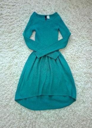 Платье на дюймовочку бирюзовое