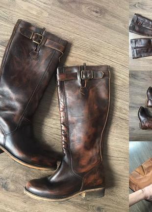 Шкіряні осінні чоботи