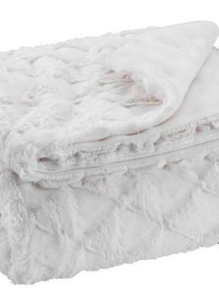 Плед белый  из искусственного меха 130*170cм