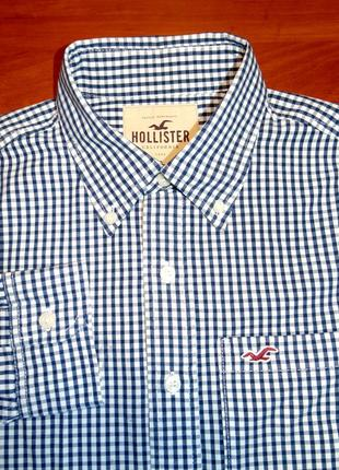 Hollister шикарная брендовая рубашка - m - s