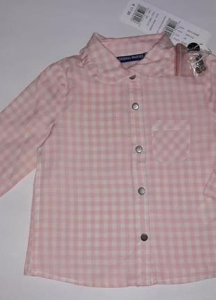 Качественная рубашка на 3-6 мес. рост 62/68см. от известного бренда original marines