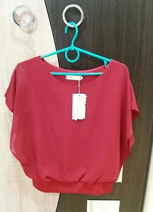 Блуза бордо