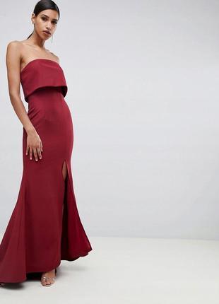Jarlo розкішна бордова максі-сукня