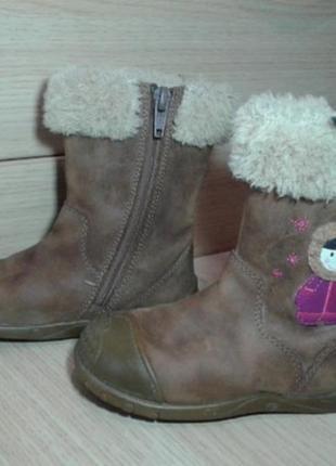 Демисезоные ботинки clarks 5.5 f, 22 р, 14.5 см