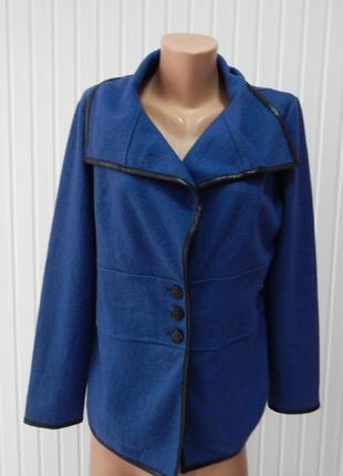 Пиджак весенний шерстяной синий valery style