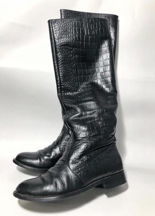 Высокие кожаные сапоги sharman