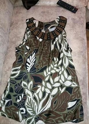 Блуза цвета хаки