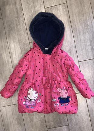 Красивая, демисезонная курточка debenhams свинка пеппа18-24 месяца