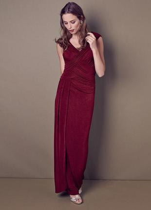 Британское вечернее платье phase eight марсала платье на запах