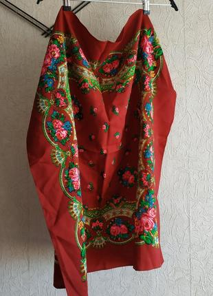 Бабушкин платок, шарф, платок на весну
