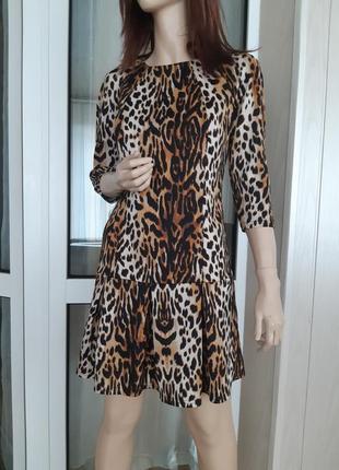 Платье в тигровый принт от atm