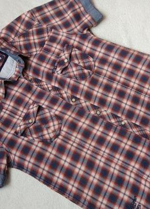 Big sale! стильная рубашка короткий рукав jack&jones р.m-l