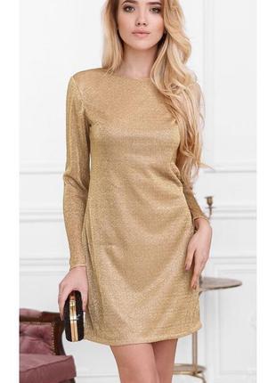 Платье мини с блестящей нитью