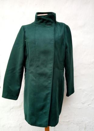 Распродажа!стильное изумрудное, зеленое пальто на кнопках,тренч,бушлат..