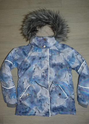Супер классная куртка, парка  i love next 9 лет