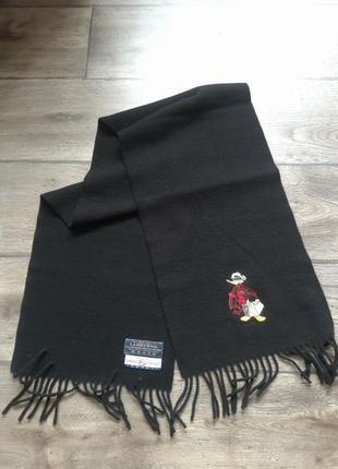 Прикольный 100% шерстяной итальянский шарф emmanuel schvili segreta. оригинал.