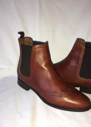 Ботинки-оксфорды   *massimo dutti*  кожа  испания р.39  ( 25.50 см)