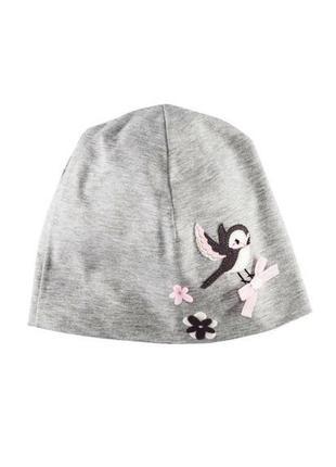 Весенняя трикотажная шапочка на девочку 4-8 лет4 фото
