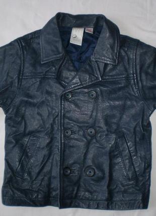 Куртка-пиджачок gap  кожа 12-18 мес