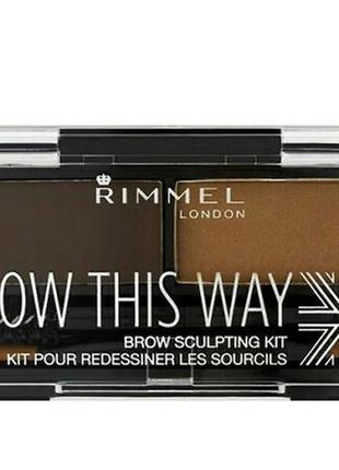Набор для моделирования бровей rimmel brow this way,003 dark brown