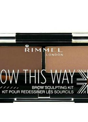 Набор для моделирования бровей rimmel brow this way,002 medium brown