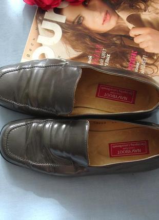 Женские туфли классические размер 37 р 4 стелька 23,5 см серые кожа кожаные деловые