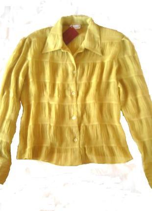 Легкая нежная блуза в лаймовом цвете, м и л