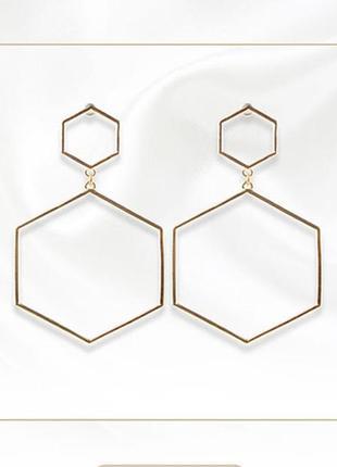 Мега стильные геометричные серьги