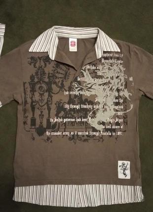 Кофта рубашка обманка