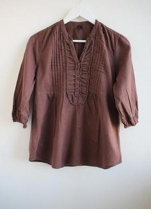 Хлопковая блуза свободного кроя vero moda