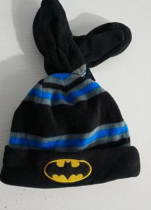 Распродажа! флисовый комплект   шапка варежки  batman  dc comics