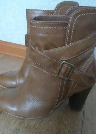 Качество! кожа! стильные ботинки ботильоны, р.36 код f3663