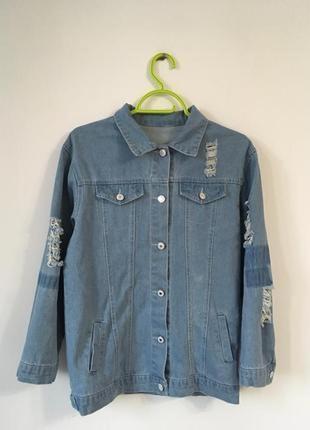 Джинсовая курточка удлиненная