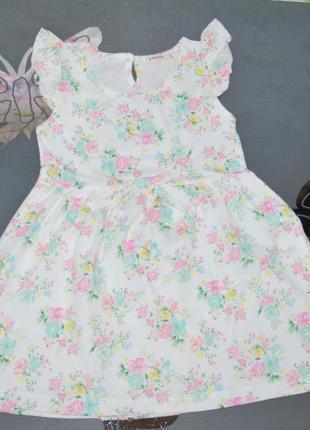 Летнее платье breeze турция 4, 6, 9 лет цветочки