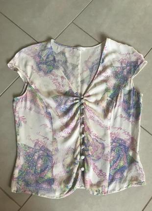 Блуза топ шёлковый фирменный escada размер 36 или s