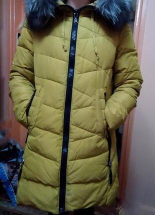 Пальто холлофайбер. пальто зима.