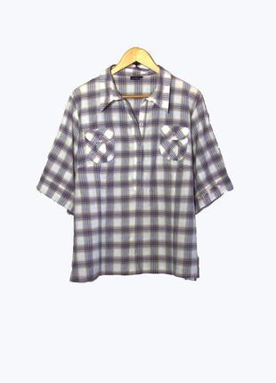 3cac444a4d9 Konfex стильная женская рубашка в клетку большого размера